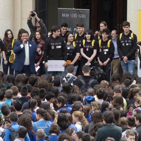 Diputación respalda el mayor acto contra el acoso escolar en la provincia